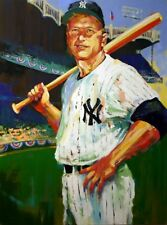 """Mickey Mantle - Triple Crown"" by Malcolm Farley - LE Giclee on Canvas"
