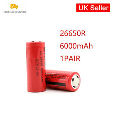 Rechargeable Li-ion Battery 26650 3.7V 6000mAh Lithium Cell Energy saving 2x