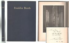Franklin Booth Sixty Reproductions 1st Edition Hardcover 1925 Inscribed by Booth