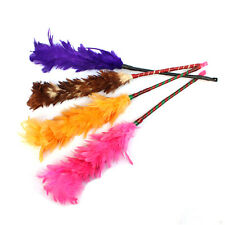Multicolor Feather Duster Plastic Handle Turkey Office Home Sofa Cleaner KY