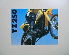 1979 YAMAHA YZ250F Sales literature/ Sales brochure (NOS--not a reprint)