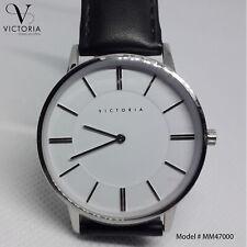 Victoria Men Watch amazing Numeral Dial Leather Casual Analog Quartz Wrist watch