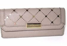 Michael Kors Jamey Flap Saffiano Leather Wallet Dark Taupe Perforated NWT $128