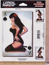 ACE OF SPADES PIN-UP GIRL Vinyl Decal Side / Rear Window Sticker Auto Truck 6307