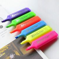6 PCS Assorted Premium Highlighter Fluorescent Pens Bright Colours Markers