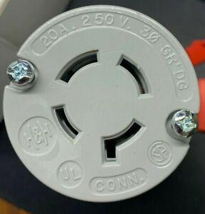 NEMA L15-20R Cooper Arrow Hart 6424 20A 250V 3P 4W Twist Lock Female Cord Plug