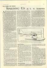 1928 The Super Marine Napier S5 Racing Seaplane