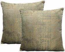 Ex-Chainstore Pack of 2 Pale Gold Design Cushion Covers