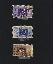 ITALY 1946-1952 Post Horn & Figure of Value (D4)