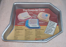 VTG COMPUTER Shaped CAKE PAN Aluminum 9 x 12 Flaw 1984