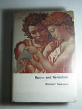 Rumor And Reflection by Bernard Berenson 1952 Art History War Time Diary 1st Ed