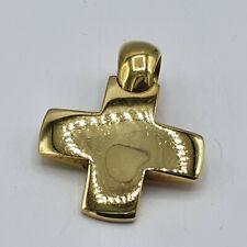 schöner Pomellato Kreuz Anhänger G Gold 750 punziert
