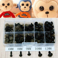 100pcs 6-10mm Black Plastic Safety Eyes For Teddy Bear Doll Animal Puppet Crafts