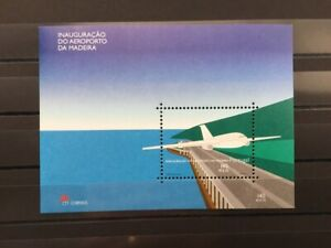 PORTUGAL stamps - block aeroporto da Madeira
