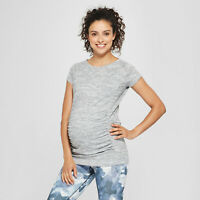 Isabel Maternity Active Short Sleeve Tee T-shirt - Grey XS-XL  #e89