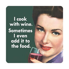 I COOK WITH WINE - QUALITY SQUARE WOODEN COASTER