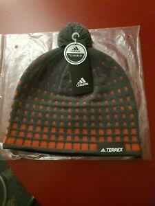 Adidas Terrex Olympic Beanie Men's Climaheat Grey Winter Bobble Hat.