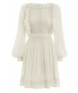ZIMMERMANN | Sz 1 Aus 10 | Rife Dandelion Silk Dress | Natural