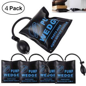 4x Air Wedge Pump Up Bag Inflatable Automotive Tool Entry Shim Hand Tool Door UK