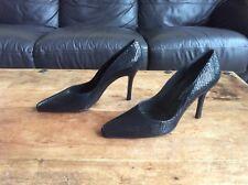 Russell & Bromley, Ladies Black Moc Snakeskin Shoes, UK 7.5 / US 9.5