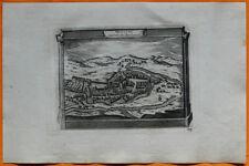 VAN DER AA Gravure originale c1725 VUE DE MOULINS Bourbonnais Allier