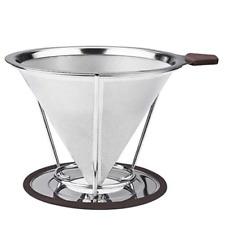 Kaffeefilter Kaffee Filter aus Edelstahl wiederverwendbar separater Stand Löffe