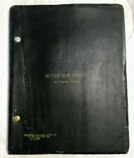 """Pulitzer Prize Original Script """"No Place to be Somebody"""" Signed Charles Gordone"""
