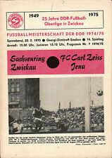 OL 74/75 BSG Sachsenring Zwickau - Carl Zeiss Jena, 22.02.1975 mit Autogrammen