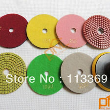 "7pc 6""Diamond Polishing Pads Wet/Dry set w/ M14 Backer Pad Granite Concrete"