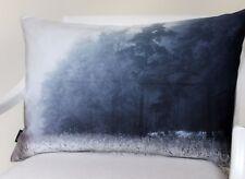 Proflax Kissen Kissenhülle Soir 40x60 Nebelwald in blau Stimmungsbild Wald