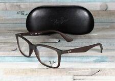 RayBan RX7047 5451 MATTE TRASP BROWN DEMO LENS 56 mm Men's Eyeglasses