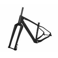 """19.5"""" 26er Carbon Fat Frame Fork 150 197mm Snow Bike Thru Axle MTB UD Matt BSA"""