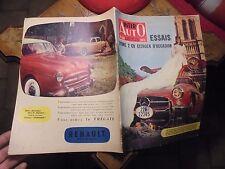 INTER AUTO 1956 Essais Citroen 2cv Occasion Mercedes Unimog / Renault 4cv Delery