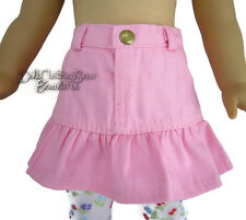 """Pink Ruffle Skirt for 18"""" American Girl Doll Clothes Western Cowgirl Cowboy"""