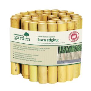 1m x 15cm Decorative Bamboo Garden Lawn Edging Border