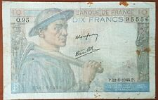 Billet 10 francs MINEUR 22 - 6 - 1944 FRANCE Q.95