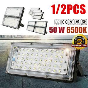 1/2pcs 240V 50W LED Flood Light IP65 Garden Outdoor Security Landscape SMD light