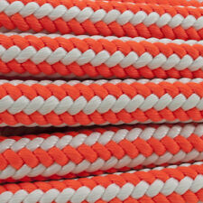 "1/2"" x 55' Ne Ropes Arborist Safety Blue Braid Hi-Vee, Orange/White, 7000# Test"