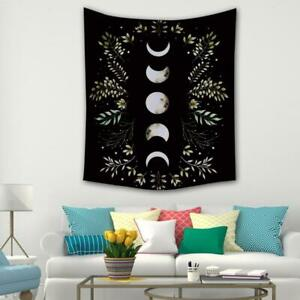 Fashion Moon Tapestry Flower Wall Hanging Room Carpet Tapestry Curtain Decor
