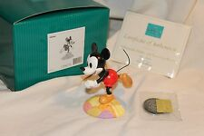 Disney WDCC Collection Mickey Mouse ON TOP OF THE WORLD COA/coin/sketch/print