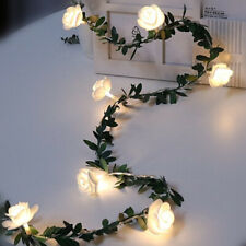 New String Flower Wedding Led  Party light Fairy Rose Decor Christmas Garden
