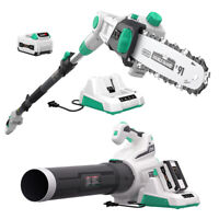 LitheLi 40V Cordless Brushless Leaf Blower+  Pole Saw w/ 2.5AH Battery