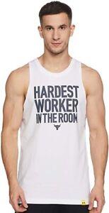 Under Armour Hardest Worker in the Room Men's Cut off Shirt Size 2XL XXL