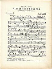 Noten für Orchester * Thema aus MITTELMEER-KONZERT * Semprini
