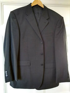 Brook Taverner wool mix, dacharcoal grey, 2 piece suit 46s 46 short, 40 in waist