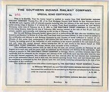 Southern Indiana Railway Company Bond Stock Certificate Railroad