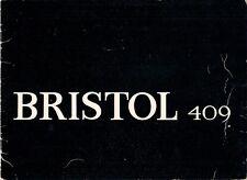 Bristol 409 1965-67 UK Market Sales Brochure