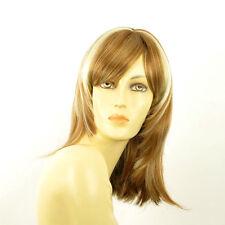 Perruque femme mi-longue blond foncé méché blond clair TAMARA F27613