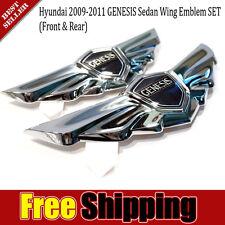 GENESIS WING EMBLEMS Badge Hood/Trunk Genuine Parts V6/V8 For HYUNDAI 2009-2012