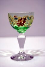 PETIT VERRE à LIQUEUR 19è verre émaillé émail épais 1880 h 7,9 cm